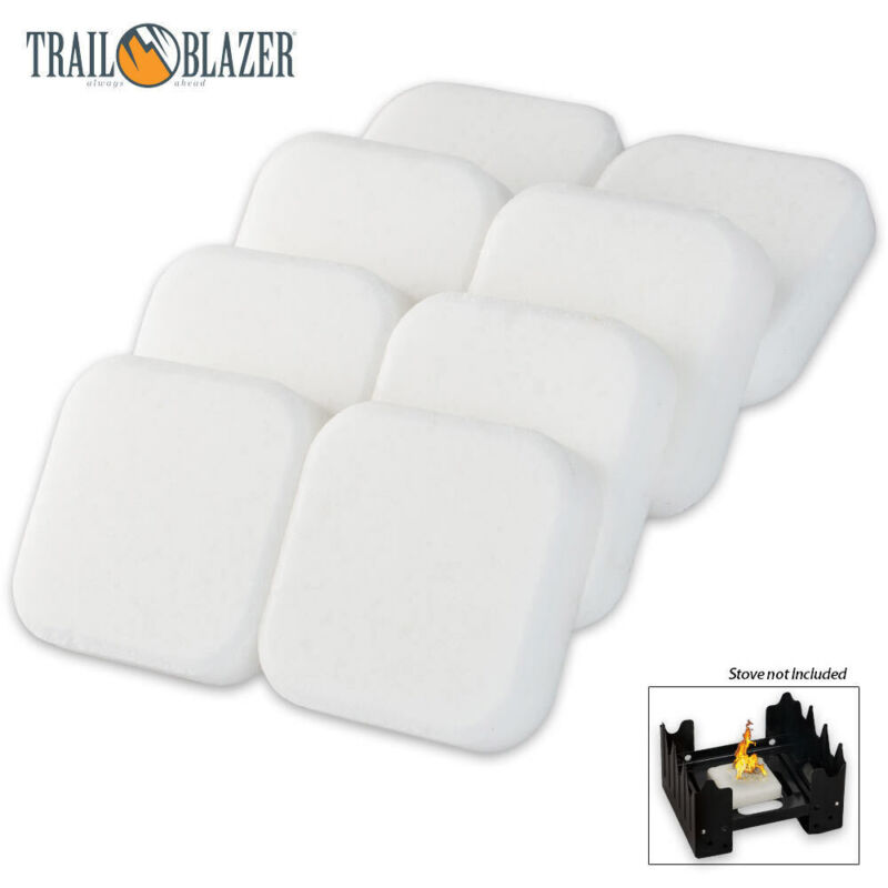 TRAILBLAZER SOLID FUEL CUBE TABLETS 8-PACK for Camping Stove Outdoor Hiking Gas