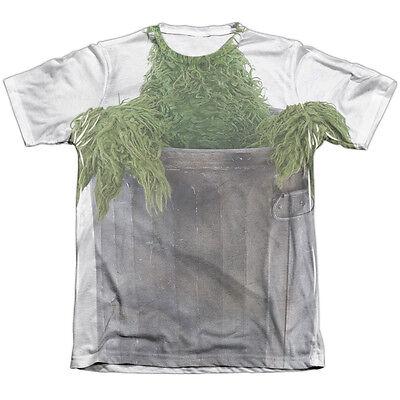 SESAME STREET OSCAR THE GROUCH COSTUME Front Halloween Men's Tee Shirt MEDIUM](Adult Oscar The Grouch Costume)