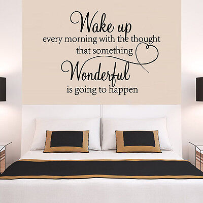 Home Decoration - heart family Wonderful bedroom Quote Wall Stickers Art Room Removable Decals DIY