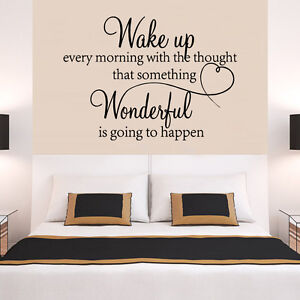 Bedroom wall quotes ebay for Bedroom furniture quotes