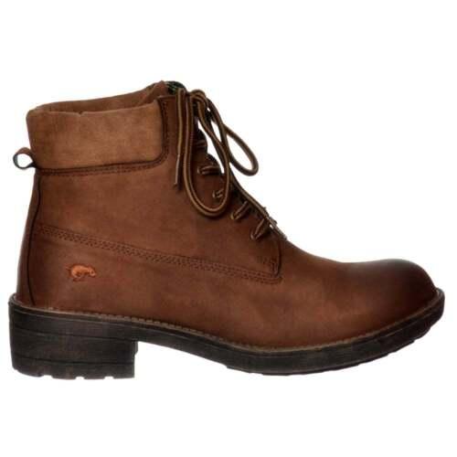 324ca7a2efd5a Ladies Girls Rocket Dog Tillie Military Lace Up Ankle Boots Chestnut Grey  Black