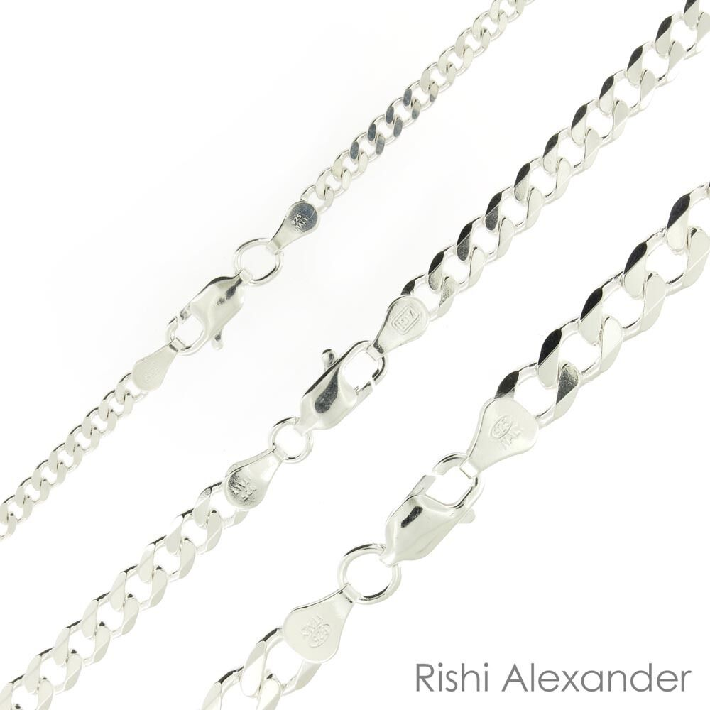 Jewellery - 925 Sterling Silver Curb Cuban Mens Womens Chain Necklace .925 Italy All Sizes