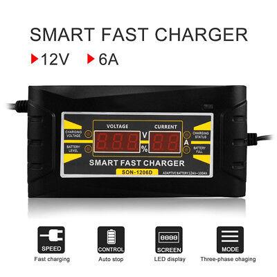 12V 6A Auto schnell Blei-Säure-Batterieladegerät für Auto Fahrzeug LCD Portable (Blei-säure-batterie-ladegerät)
