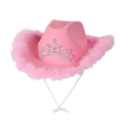 ROSA Cappello da cowboy donna vestito notte per addio al nubilato con marabù