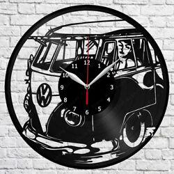 Volkswagen Retro Car Vinyl Record Wall Clock Home Fan Art Decor 12'' 30 cm 5977