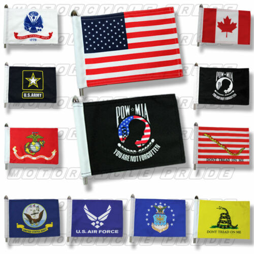 Motorcycle Flags | Extra Strong | Double Stitched | 6X9 or 10X15 Motorcycle Flag