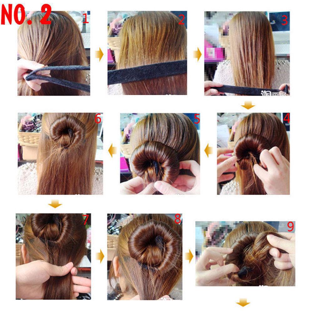 UK Hair Bun Maker Donut Styling Bands Former Foam French Twist Magic DIY Tool