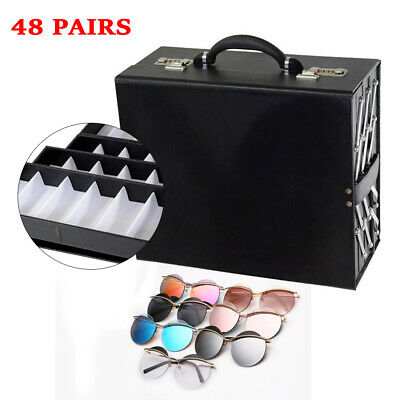 48 Pair Foldable Multicase Sunglasseyeglasses Suitcase Display Box 8 Layer Us