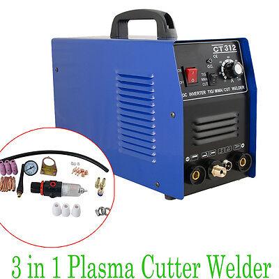 3in1 Ct312 Tigmma Air Plasma Cutter Cut Welder Welding Torch Machine Durable