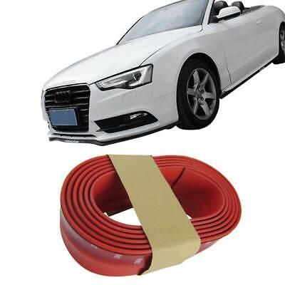 Für viele Fahrzeuge Frontspoiler Gummilippe Spoiler Lippe Gummi Flexibel Rot