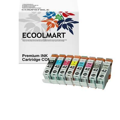 Photo Ink Set - 8 PK Ink Jet Set w/ LED chip for CLI-42 Pixma Pro100 Pro-100 Photo Printer