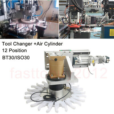 Cnc Milling Atc Automatic Tool Changer Air Cylinder Tool Holder Bt30 12 Position