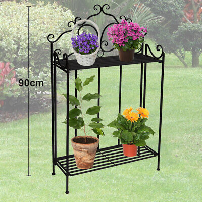 Vintage style plant shelf garden ornaments decoration outdoor flower stand new
