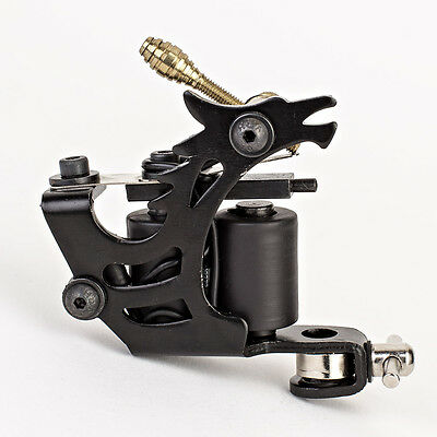New Black Tattoo Machine Gun for Liner Shader Dual 10 Wrap Coil Equipment Supply ()