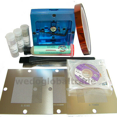 Bga Reball Station0.5 0.6 0.76 Universal Stencil For Pc Video Game Rework Kit