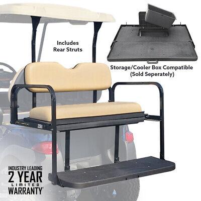 Club Car Precedent Rear Flip Seat Folding Buff Cushions 2004-Up Golf Carts