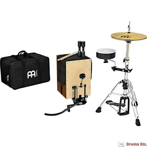 Meinl Percussion Cajon Drum Set w/ Direct Drive Pedal, Cymbals and Hardware
