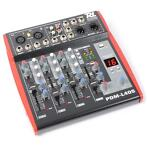 Power Dynamics PDM-L405 Muziek Mixer 4-Kanaals MP3 Echo