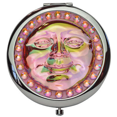 Kirks Folly Seaview Water Moon 50mm Mirror Compact (Silvertone / Pink)