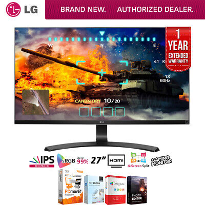 """LG 27UD68-P 27"""" 16:9 4K UHD IPS FreeSync Monitor + Extended Warranty Pack"""