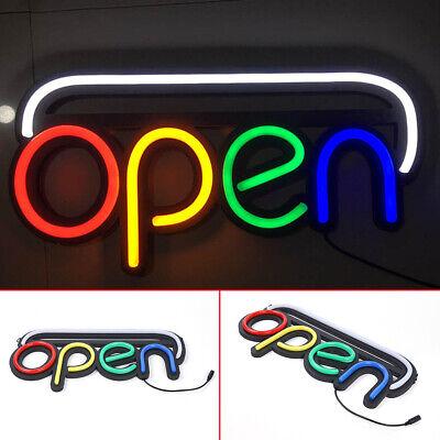 Open Sign Led Neon Light W Chain Business Light Bar Club Wall Decor