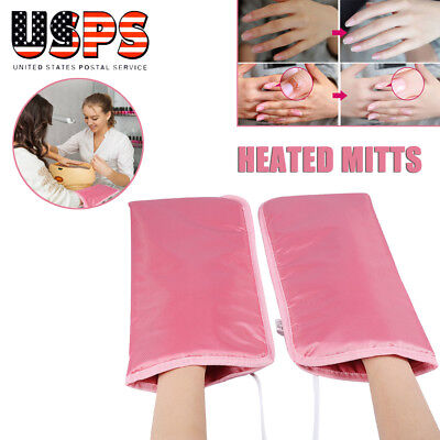 Manicure Mitts - Electric Manicure Gloves Heated Mitts Far Infrared Therapy Hand Mask Nail Spa