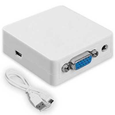 Conversor Convertidor VGA Señal Video Analógica a Alta Definición HDMI VGA2HD