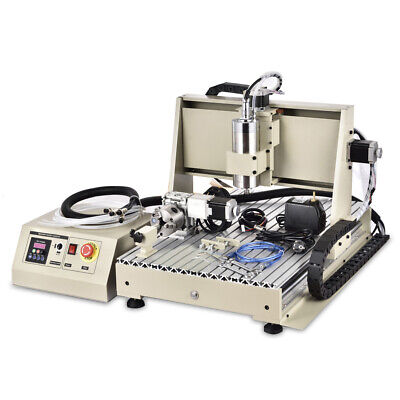 Usb 5 Axis 6040 Cnc Router Engraver Cutting Metal Milling Wood Machine 1.5kw Ce