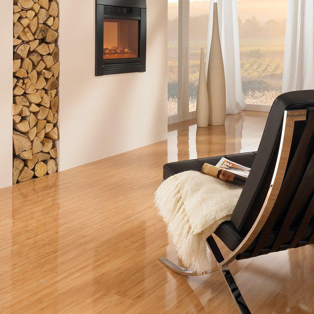 Elesgo Laminate Flooring Bamboo Gloss 20.66 Sq.Ft - MADE IN