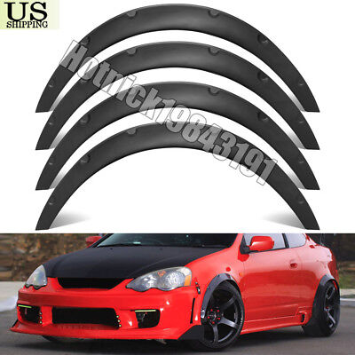 "4Pcs 3.1""/80mm Universal Durable Car Fender Flares Over Wide Body Wheel Arches"