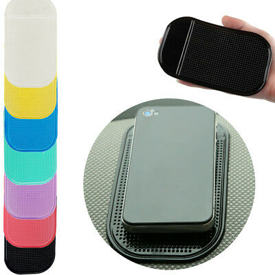 1pc Car Interior Holder ANTI Slip Pad Dash Dashboard For Phone Sticky Mat Random