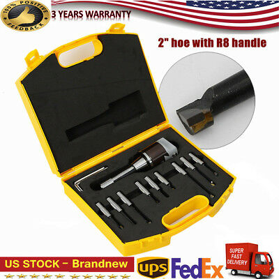 2 Inch Adjusted Boring Head R8 Shank 9pc 12 Boring Bar Set For Milling Machine
