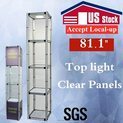 Us 81.1 Square Portable Aluminum Spiral Tower Display Case For Trade Showstore