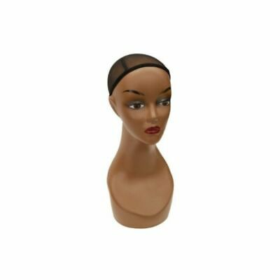Realistic Womens African American Mannequin Display Head