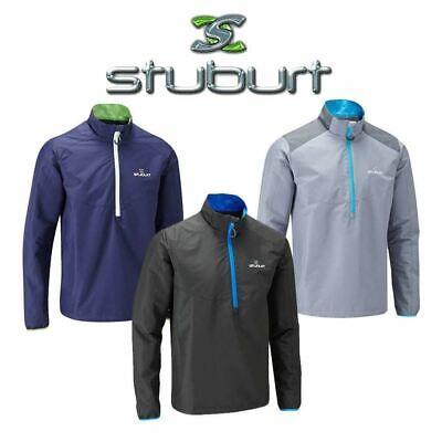 Half Zip Thermal (Stuburt Mens Vapour Half Zip Thermal Windproof Windshirt Jacket Top Size S-XXL)