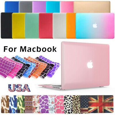 """Rubberized Hard Case for Macbook Pro 13/15 16 Retina Air 13"""" Inch+Keyboard Cover"""
