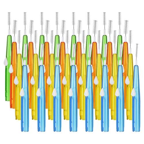 32pcs Interdental Brush Dental Floss Teeth Oral Clean Double Head Toothpick Dental Floss & Flossers