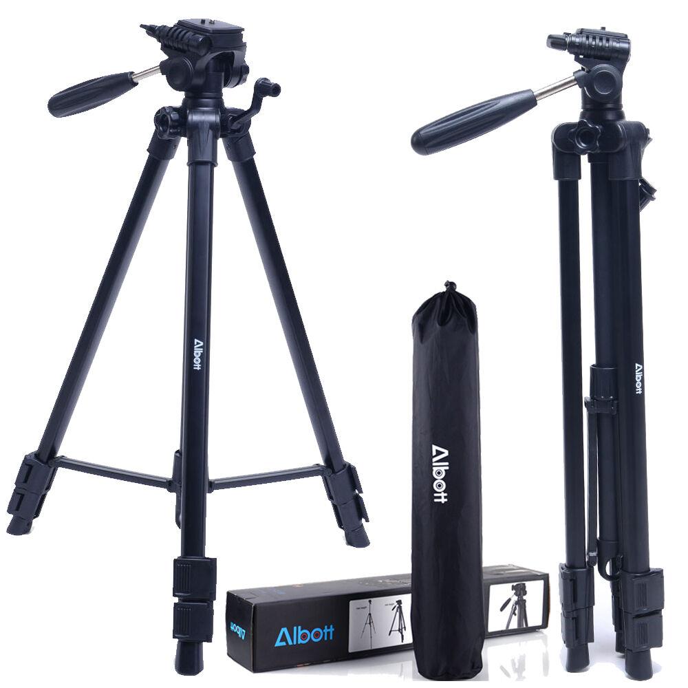 "63"" Albott Universal Professional Camera Camcorder Tripod For Canon Nikon Sony"