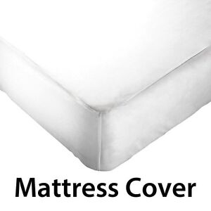 fitted waterproof non allergic washable vinyl mattress cover protector queen ebay. Black Bedroom Furniture Sets. Home Design Ideas