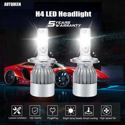- 2x CREE H4 LED Headlight Kit 9003 1500W 225000LM Hi/Low Beam Bulb 6000K Light US