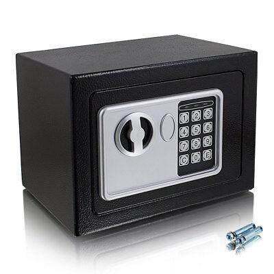 Kleiner elektronischer Mini Safe Tresor Schranktresor mit Zahlenschloss Schwarz (Safe Mit Zahlenschloss)
