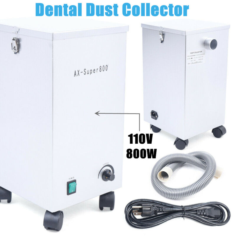 Lab Dental Dust Collector Dust Removal Machine Extractor Vacuum Cleaner 110V800W