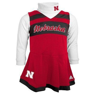 Nebraska Cornhuskers Basketball Football CHEERLEADER Jersey Dress TODDLER (2T) - Football Jersey Dresses