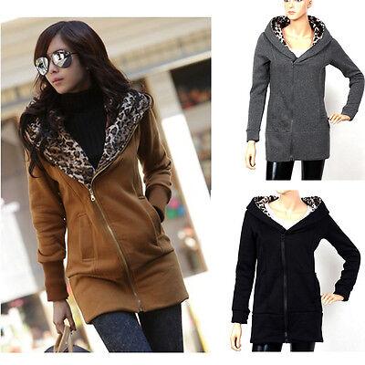 Mode Damen Casual Jacke Winter Mantel Lang Pullover Hoodie Oberbekleidung Bluse - Casual Damen Winter Mode