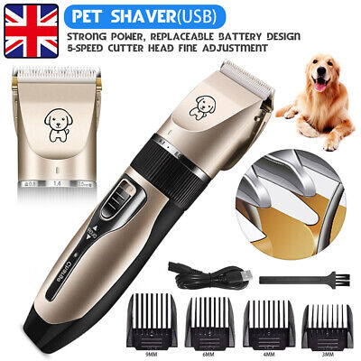 PET Dogs Cats Clippers Low Noise Pet Rechargeable Cordless Trimmer Grooming Kit