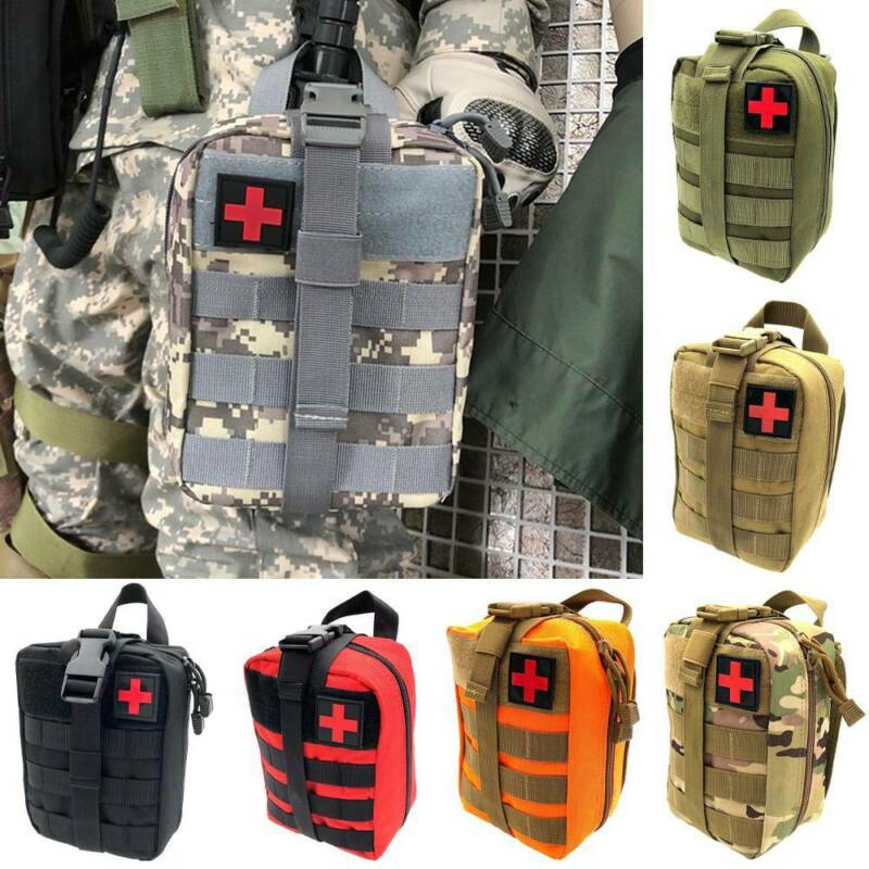 Tactical First Aid Kit Survival Molle Rip-Away EMT IFAK Medi