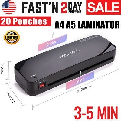 Hot Laminator A230 Laminating Machine A4 For Home Office Free 20 Pouches