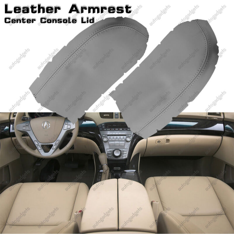 Leather Armrest Center Console Lid Cover For Acura MDX