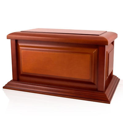 Perfect Memorials Large Traditional Cherry Wood Cremation Urn