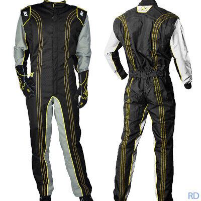 K1 - GK2 Karting Suit - Kart Racing Level 1-Piece - Yellow (Kart Racing Suits)
